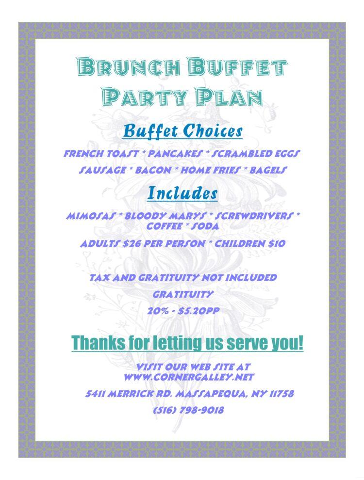 Brunch Buffet Party Plan