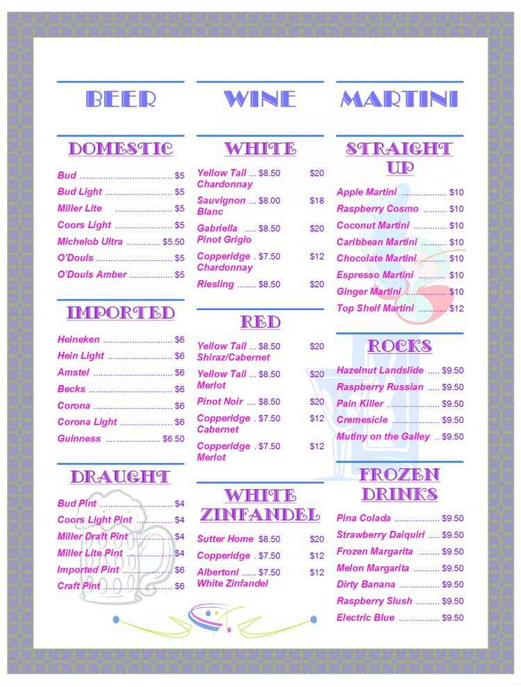 Beer-Wine-Martini